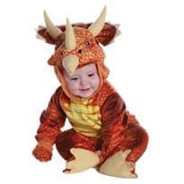 Костюм красный динозавр Трицератопс купить