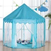 Голубая палатка-вигвам игровой домик купить