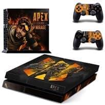 Крутая горящая наклейка для PS4 (Apex Legends)