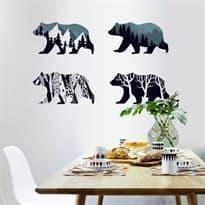 Интерьерная наклейка Четыре Медведя (60 x 90 см) купить