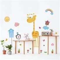 Интерьерная наклейка Дом Жирафа (90 x 115 см) купить