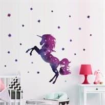 Интерьерная наклейка Космический Единорог (27 x 45 см) купить