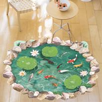 Интерьерная наклейка Рыбный пруд (88 x 55 см) купить