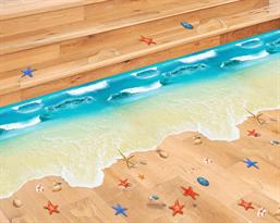 Интерьерная наклейка Морской Пляж (78 x 81 см) купить