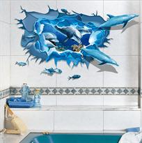 Интерьерная наклейка Дельфины (57x 87 см) купить