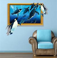 Интерьерная наклейка Пингвины (64 x 80 см) купить
