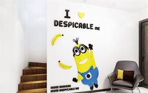 Интерьерная наклейка радостный Миньон (90 x 58 см) купить