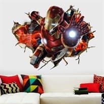 Интерьерная наклейка Железный человек (50 x 70 см) купить