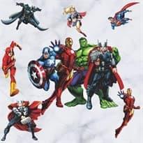 Интерьерная наклейка комикс Мстители (60 x 45 см) купить