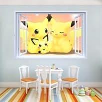 Интерьерная наклейка семья Пикачу (60 x 90) купить