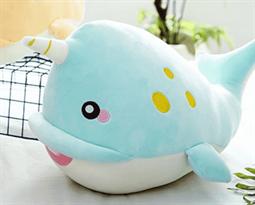купить Крутая плюшевая игрушка голубая акула 50 см