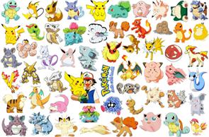 Интерьерная наклейка 56 Покемонов  (60 x 90) купить