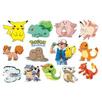 Интерьерная наклейка 12 Покемонов  (60 x 90) купить
