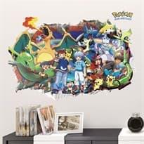 Интерьерная наклейка Покемоны поймай их всех (50 x 70) купить
