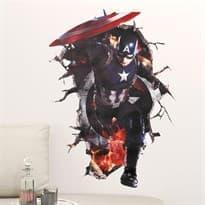 Интерьерная наклейка Капитан Америка (70 x 50 см) купить