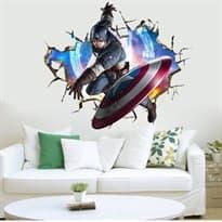 Интерьерная наклейка Первый мститель (50 x 70 см) купить