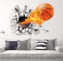 Интерьерная наклейка Баскетбол (50 x 70) купить