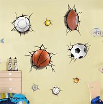 Интерьерная наклейка Мячи (50 x 70) купить