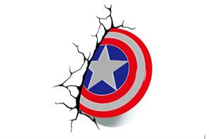 3D наклейка на автомобиль щит Капитана Америки купить