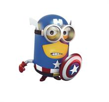 3D наклейка на машину Миньон Капитан Америка купить