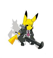 3D наклейка на машину Пикачу с мечом купить