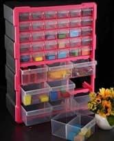 купить в Москве Розовый ящик с отделениями для хранения игрушек