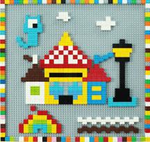 Лего доски на стену (Разноцветный Дом) купить