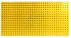 Жёлтая строительная пластина лего купить
