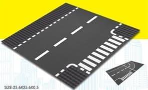 Строительная пластина лего прямая дорога и поворот купить в Москве