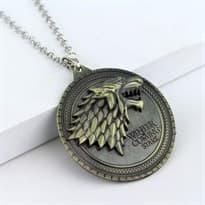 Медальон с лютоволком Игра Престолов (Бронза) купить в Москве