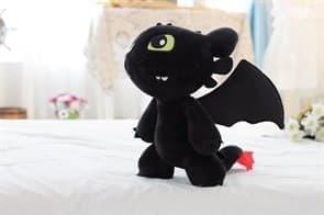 Мягкая игрушка Беззубик на двух лапах (Ночная Фурия) купить в Москве