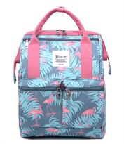 Сумка-рюкзак трансформер с фламинго купить