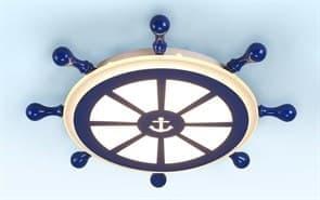 купить в Москве Светильник штурвал в морском стиле