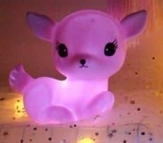 Лампа ночник розовый оленёнок купить в москве