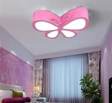Люстра розовая бабочка купить в Москве