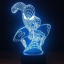 купить в москве Светодиодная лампа на стол Человек Паук