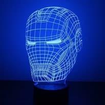 Светодиодная лампа голова Железного человека купить в Москве