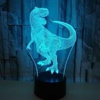 Светодиодная лампа синий Динозавр