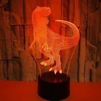 купить в Москве Светодиодная лампа оранжевый Динозавр