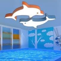Светильник на потолок с Дельфинами купить в Москве