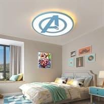 Люстра на потолок Мстители Синий логотип купить в Москве