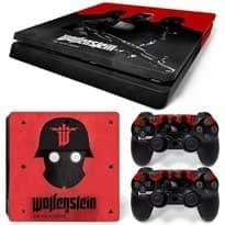 купить в москве Наклейка для PS4 Slim (Wolfenstein)