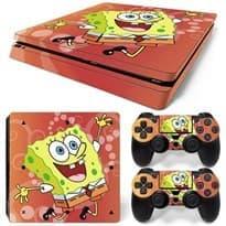 Наклейка Sponge Bob для PS4 Slim (Губка Боб) купить в москве
