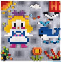 Лего-стена Девочка с китом купить