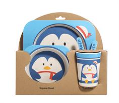 Бамбуковая посуда с Пингвином купить