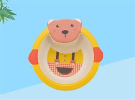 Бамбуковая миска Мишка в пижаме купить