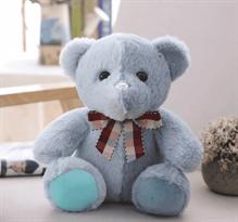 Двухцветный плюшевый мишка (серо-синий) купить