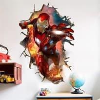купить в москве Интерьерная наклейка Железный Человек (60 x 90 см)
