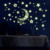 Интерьерная наклейка звёзды с луной купить в москве