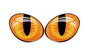 3D наклейка на машину Кошачьи глазки купить